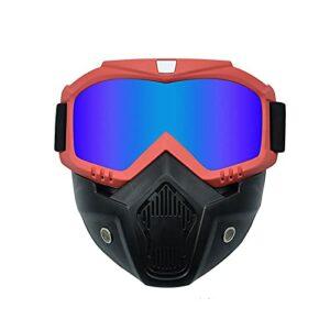 AVOA Masque de Ski Hommes Femmes Snowboard Snowboard Masque Snowmobile Ski Goggles Turproof Motocross Verres de Protection Lunettes de Protection avec Filtre à la Bouche Masques et Lunettes