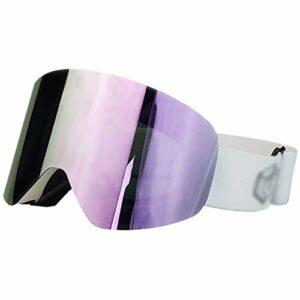 AVOA Masque de Ski Lunettes de Ski Alpinisme magnétique Adulte Lunettes Anti-buée Lunettes de Ski Hommes et Femmes Lunettes de Ski Masques et Lunettes (Color : A)