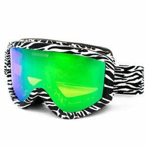 AVOA Masque de Ski Lunettes de Ski Double Anti-Brouillard Peut Carte Myopie Lunettes for Les Hommes et Les Femmes d'extérieur Coupe-Vent Lunettes Lunettes de Ski Masques et Lunettes (Color : C)