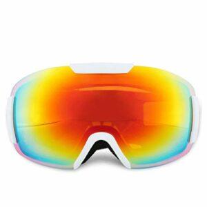 AVOA Masque de Ski Masque de Ski Doubles Couches UV400 Anti-buée Ski Lunettes de Neige Hommes et Femmes Lunettes de Ski Masques et Lunettes (Color : D)