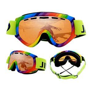 Bcofoa Lunettes de Ski Masques Snowboard,Sports Hiver Motoneige Moto Lunettes Ski Goggles Protection Lunettes Lens ,UV Protection,Anti-Buée,Coupe-Vent pour Garçons et Filles,Hommes&Femme