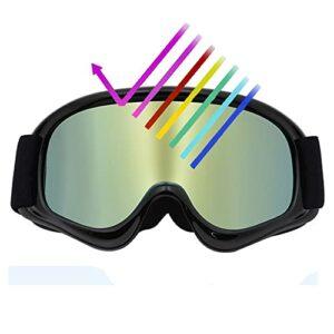 Bcofoa Lunettes de Ski pour Enfants Doubles Lunettes de Neige Anti-buée et aveugles Masque Ski Masques de Snowboard pour Enfants de 3 à 12 Ans, Ski, motoneige, Alpinisme, randonnée, Cyclisme