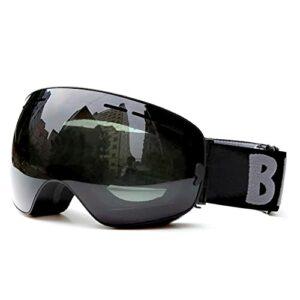 Bcofoa Protection Lunettes de Ski Masques Snowboard Lunettes, Motoneige Moto Lunettes Ski Goggles Protection Lunettes Lens Anti-poussière, UV Protection, pour Enfants,Garçons et Filles,Hommes