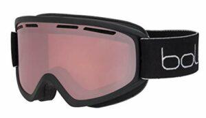 bollé Freeze Plus Masques de Ski Unisex-Adult, Black Matte/Vermillon Gun Cat.2, Medium