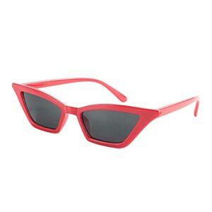 Cosiki Lunettes de soleil pour femmes, lunettes de soleil vintage, style vintage pour femme en plein air Party Girl(Red frame gray piece)