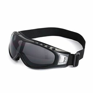 Deasengmin Outdoor Motorcycle Ski Goggles Snowboard Men Women Anti-Fog Skiing Glasses Black