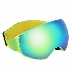 EVTSCAN Ski Snowboard Goggles Snow Double Lens Anti-buée Lunettes UV Lunettes(Vert)