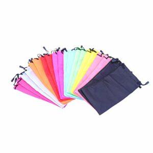 FOMIYES Lot de 20 pochettes de rangement simples pour lunettes avec cordon de serrage pour femmes, hommes, étudiants