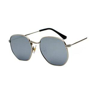 Hommes Sunglases Sunglases Femmes Brand Donner des Lunettes de Soleil mâles pour Lunettes pour Hommes (Lenses Color : Silver)