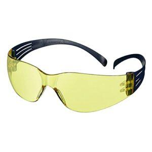 Lunettes de sécurité3M™ SecureFit™100, monture bleue, antirayure/antibuée, optiques jaunes, SF103AF-BLU-EU, 20/boîte