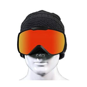 Masque de Ski,Snowboard Lunettes-Lunettes de Ski,Lunettes Ski Goggles,Anti-Buée100% Protection UV400 Masques de Snowboard pour Hommes&Femme,Garçons et Filles,Grand Angle (Color : Blue)