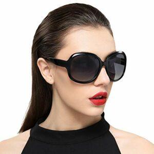 Oculos De Sol Lunettes de soleil en plastique de haute qualité pour femme Noir
