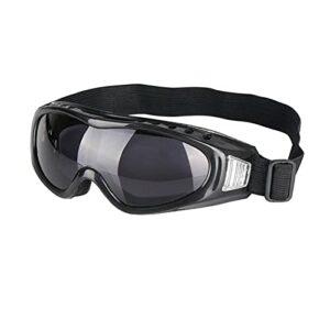 Ohfruit Lunettes de ski unisexes pour adolescents, protection UV, application par tous les temps, respirantes, coupe-vent, neige, conviennent pour l'alpinisme, le ski, les sports de plein air – Gris