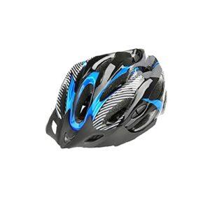 Runfon Casque De Vélo De Montagne Léger BMX Casque De Cyclisme BMX Casque De Sécurité en Plein Air Casquette pour Sports De Plein Air Noir Bleu 1pc