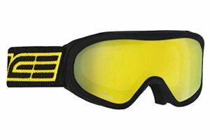 Salice, 905DAFO Masque de ski SR OTG Noir-Jaune Unisexe Adulte, Unique