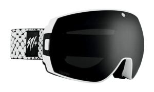 SPY OPTIC Legacy Lunettes de ski et de snowboard Couleur du cadre : blanc Viper – Couleur des verres : gris et vert avec miroir Spectra noir + Happy LL Persimmon avec miroir argenté