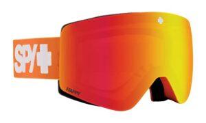 SPY OPTIC Marauder Elite Masque de ski et snowboard Couleur du cadre : orange Contrôle couleur des verres : bronze avec miroir rouge Spectra + Happy LL gris vert avec miroir rouge Spectra