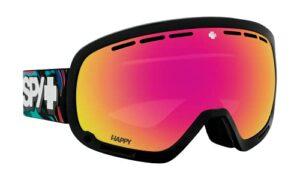 SPY OPTIC Marshall Masque de ski et snowboard Couleur du cadre : PSYCHEDELIC Couleur des verres : Happy ML Rose avec miroir rose Spectra rose