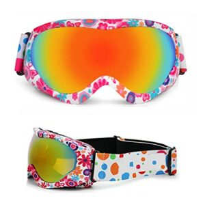 WINBST Masque de ski pour enfant – Double masque de ski en TPU avec lentille magnétique antibuée amovible – Protection UV400