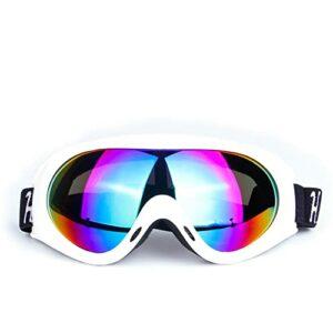 XJST Lunettes de Neige Unisexe Véglages Coupe-Vent 100% Protection UV, Casque de Ski Compatible, pour Hommes, Femmes, Jeunes, Patinage, Sports de Neige, Coupe-Vent,B
