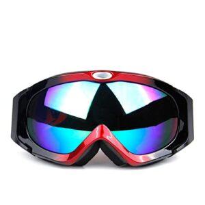 XJST Lunettes de Ski Anti-Reflets, Double Couche Anti-Chouette 100% Protection UV Lentille sphérique, Bretelles réglables Lunettes de Neige, pour Hommes, Femmes, Jeunesse,D