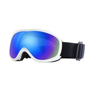 XJST Lunettes De Ski, Lunettes De Neige Unisexe Coupe-Vent 100% Protection Contre Les UV, Vélo Moto Skis Ski Goggles De Ski, Sports De Plein Air Verres De Ski,D