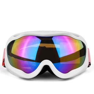 XJST Lunettes De Ski, Lunettes De Snowboard pour Hommes Femmes, sur Lunettes Logement Large Vue Large De Ski avec Protection Anti-Brouillard Protection UV,J