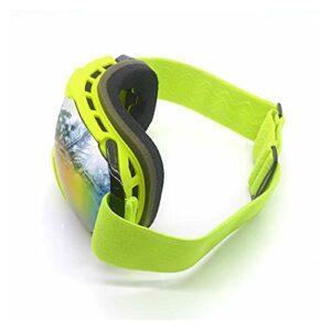 YINYAN Lunettes de Ski Unisexe Masque de Snowboard Masque de motoneige à la motoneige Motocross Sunglasses à Coupe-Vent UV Protection Verres de Sport d'hiver (Color : Green Frame)